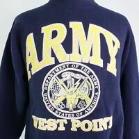 VTG ARMY WEST POINT ACADEMY BLUE USA MADE PULLOVER CREW NECK SWEATSHIRT L LARGE