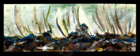 """Sailboats """"Race in Waves Ventura"""" 2014 ORIGINAL OIL PAINTING Seascape SIGNED ART"""