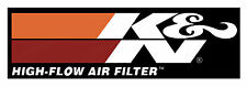"K&N AIR FILTERS DIGITALLY CUT OUT VINYL STICKER. 6"" X 2"" OVERALL SIZE."