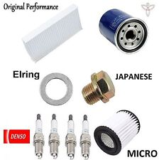 Tune Up Kit Cabin Air Oil Filters Spark Plugs for Acura RSX Base; L 2002-2003
