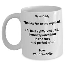 Funny Coffee Mug Gift for Dad From Daughter Son Father Bday Day Thank You Gag US