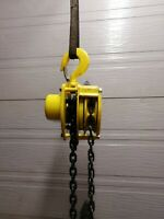 Yale 1 1/2 Ton Manual Chain Hoist 10ft Lift