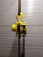 Yale 1 1/2 Ton Manual Chain Hoist 10ft Lift