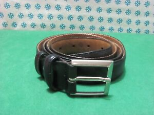 Vintage -  anni 90 Cintura Uomo vera pelle , Cm 127x3  fibia compresa - 4