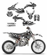 KTM SX 85 graphics sticker kit 2013 - 2017 Free custom service #2500 Metal
