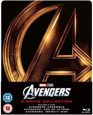 Marvel The Avengers 1-3 Steelbook Blu-ray Collection! Preorder 5/11 FREE P+P