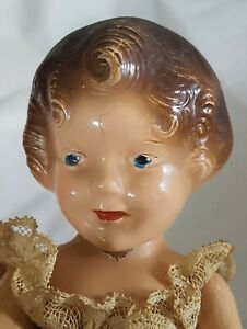 "Vintage/ANTIQUE  IDEAL Composition Doll Beautiful Coquette 9"" RARE 1939"