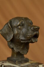 HOT CAST BRONZE DOG FIGURE SCULPTURE LAB LABRADOR RETRIEVER SIGNED YANEZ DECOR