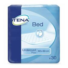 1x TENA Bed Plus - 60cm x 60cm - Pack of 30 - Disposable Bed Pad - 1250ml