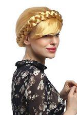 Perücke Damen traditionell Haartracht Russland Osteuropa Geflochten Gold-Blond