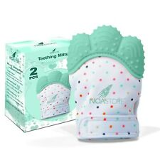 Teething Mittens for Baby Set of 2- Infant Teething, Baby Glove Teether (Ligh...