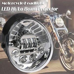 Chrome Hi/Lo LED Headlight Headlamp for Harley VRod V-rod VROD VRSC VRSCA VRSCF