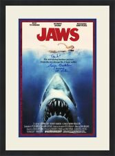 JAWS Movie Poster II Susan Backlinie Autographed Custom Framed  FREE SHIP