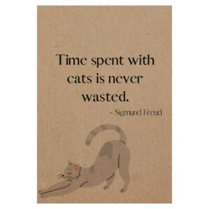 A6 Pocket Notebook 'Time spent with cats' Exclusive 48 Pages Recycled Cover