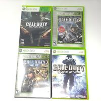 Call of Duty Bundle Games Lot Black Ops World at War 2 3 XBOX 360
