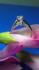 1.01 Ct G/Si1 Round Diamond Solitaire Ring 14K W Gold