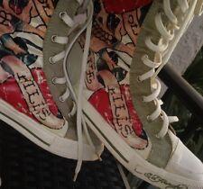 Ed Hardy Womens Shin Boot Shoe White US 7💘Love Kills 💀 lightweight