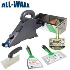 Delko Banjo Drywall Taper Tool w/Sheetrock Mud Pan, Matrix Knives, Corner Trowel