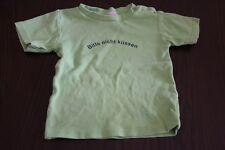"T-Shirt Baby Gr. 86 Jungen Sommer Kurzarm grün ""Bitte nicht küssen"""