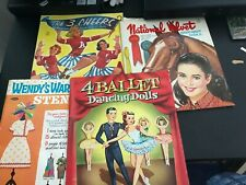 Lot of Vintage Paper Dolls: The 3 Cheers, National Velvet , Ballet + 1 more