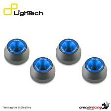 Protezione perni ruota anteriore+posteriore Lightech cobalto Yamaha TMax 560