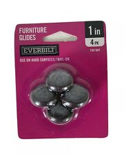 New Everbilt 1 in. 4 Pk Furniture Glides Use on Hard Surfaces Nail On--E0178
