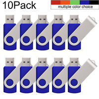 10pack 32GB Metal USB Flash Drives Swivel Memory Stick Thumb Storage Pen Drive