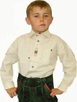 Trachtenhemd mit Krempelarm Hemd für Kinder natur St. Peter Trachten
