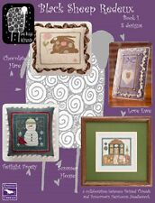 BLACK SHEEP REDEUX BOOK I WITH BUTTON ACCESSORY-CROSS STITCH-8 DESIGNS-EWE & EYE
