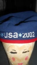 USA Roots 2002 Navy Blue Olympic Team Beret Hat NWT Made in Canada Polyester