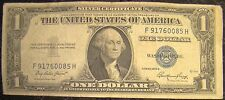 United States 1 One Dollar Blue Seal Silver Certificate 1935 E F 91760085 H Bill