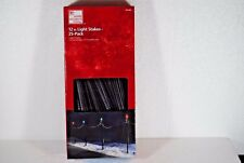 Home Accents Holiday 25 Pack 12 inch Christmas Light Stakes Brand New In Box