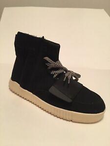 NWOB Designer Inspired Mens Black Hi Top Athletic Shoes 9.5M