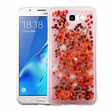 Red Hearts Quicksand Glitter Hybrid case Cover FOR SAMSUNG Galaxy Halo / I8520