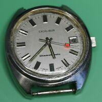 Excalibur Electronic ESA 9154 Vintage Watch for Restoration - Good Balance (N85)