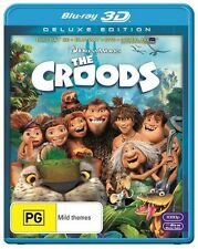THE CROODS - DELUXE EDITION - BLU-RAY 3D DVD DIGITAL HD -  DREAMWORKS (Region B)