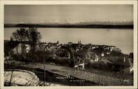 Neuchâtel Neuenburg Schweiz AK ~1920/30 Gesamtansicht Panorama mit Alpen See