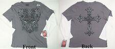 Men's MMA Elite T-shirt UFC licensed cross skeleton angel fighting Small