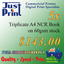 Custom A4 triplicate invoice book, docket book, quote book, NCR book, full color
