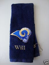 Personalized Embroidered Golf Bowling Workout Towel St Louis Rams