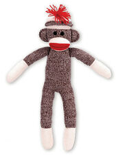 Sock Monkey 20 Inches Tall Stuffed Animal Lovey Plush Classic Toy NEW SSM