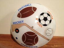 Sports Theme Glass Cieling Fixture 1970's to 1980's