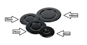 Set of Cooker Oven Gas Hob Rapid Burner Flame Caps Crown Ring Tops Covers