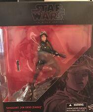 "Rare! Rogue One Black Series 6"" Sergeant Jyn Erso! Hot NIB Start Wars! Genuine!"