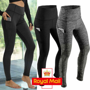 Women High Waist Gym Leggings Pocket Fitness Sports Running Ladies Yoga Pants K1