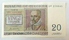 20 Francs 1950 20 Frank KM:132a, aUNC Belgique Belgïe #F5#