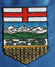 ALBERTA Emblem logo pre trimming patch  high detail embroidered patch