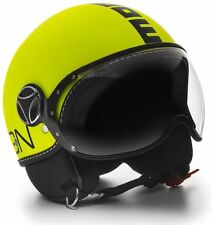 CASCO MOMO DESIGN FIGHTER Fgtr  YELLOW GIALLO FLUO NERO TAGLIA S