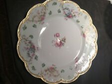 "Two Beautiful Haviland Limoges Schleiger #72 dinner plates 9 1/2 """