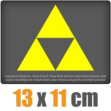 Triforce 13 x 11 cm JDM Décalque sticker autocollant racing la CUT